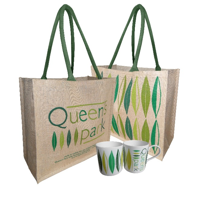 Queen's Park bags and mugs