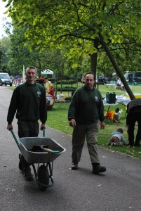Park staff working hard to get ready