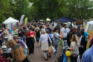 Crowds enjoying Queen's Park Day 2014